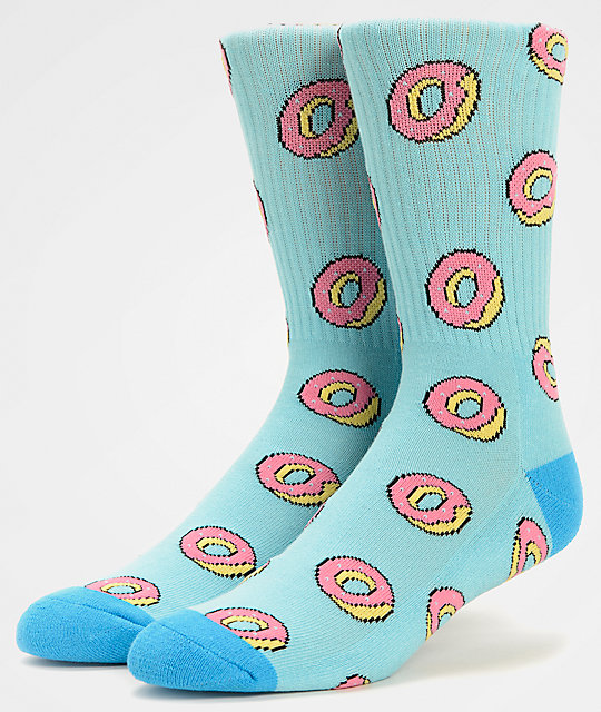 75be331f1b Odd Future Donut Allover Light Blue Crew Socks