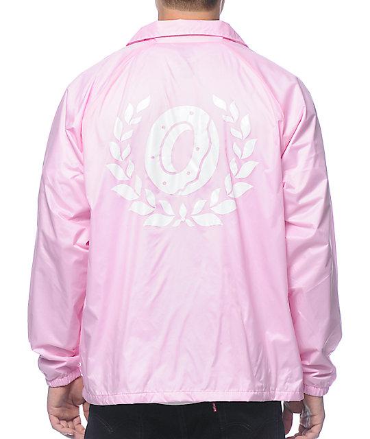 18c8a570f360 ... Odd Future Donut Leaf Pink Coach Jacket ...