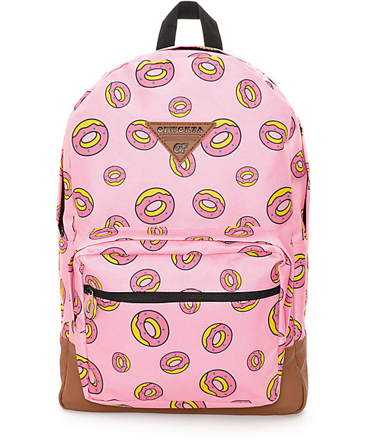 Odd Future Donut Pink Backpack
