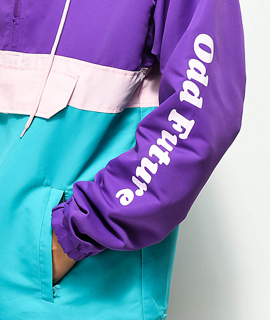 Odd Future Donut Purple, Teal, & Pink Anorak Jacket
