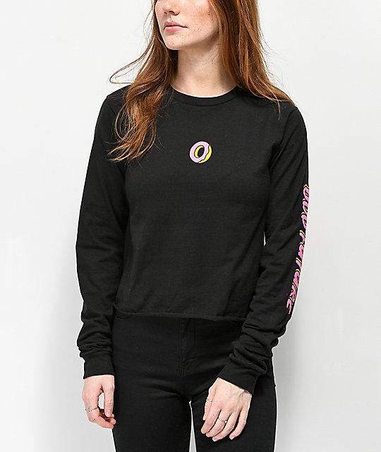 2178108edc8e1 Odd Future Donut camiseta corta de manga larga negra ...