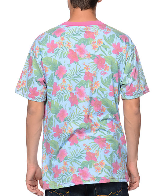 74f4098e3740 ... Odd Future Earl Teal Floral Pocket T-Shirt ...