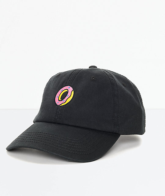 32ac16358 Odd Future Embroidered Donut Black Polo Strapback Hat