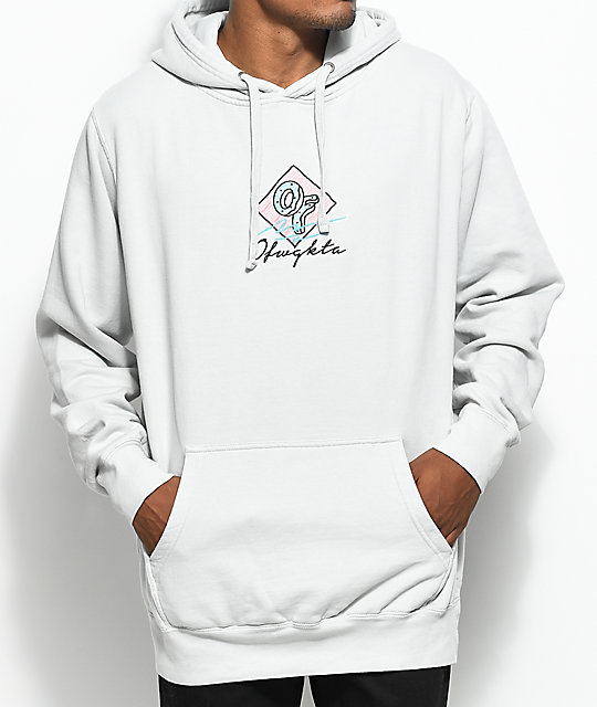 Odd Future Embroidered Sketch Grey Hoodie