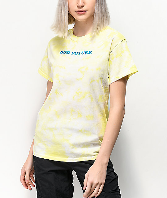 Odd Future Embroidery Yellow Wash T-Shirt