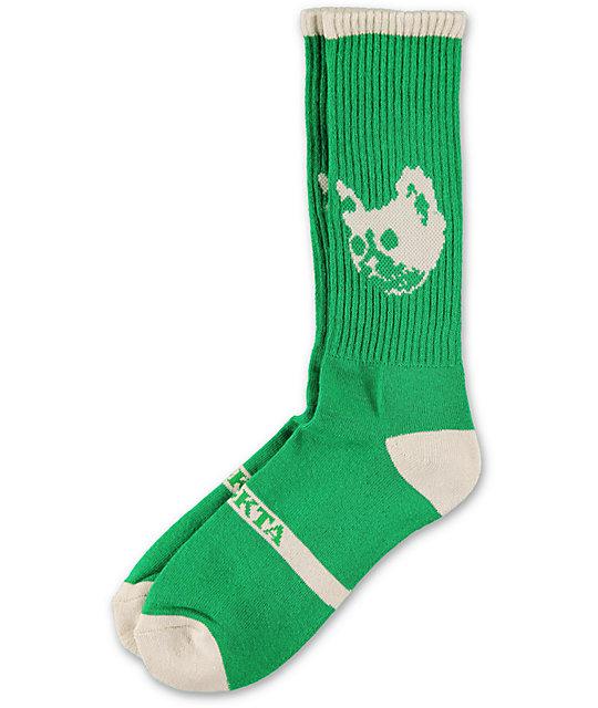 36c57890cfb332 Odd Future Green Cat Crew Socks