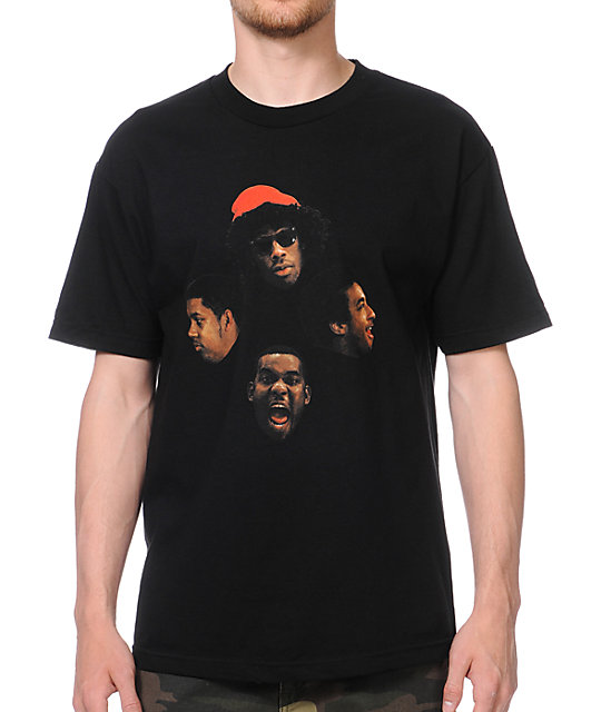 Odd Future Loiter Squad Faces Black T-Shirt