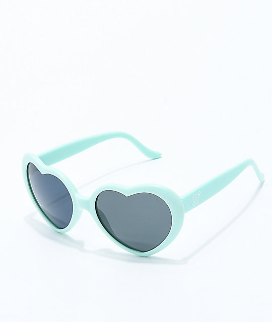 Odd Future Mint Heart Sunglasses