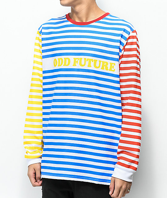 Odd future multicolored striped long sleeve t shirt zumiez for What is a long sleeve t shirt