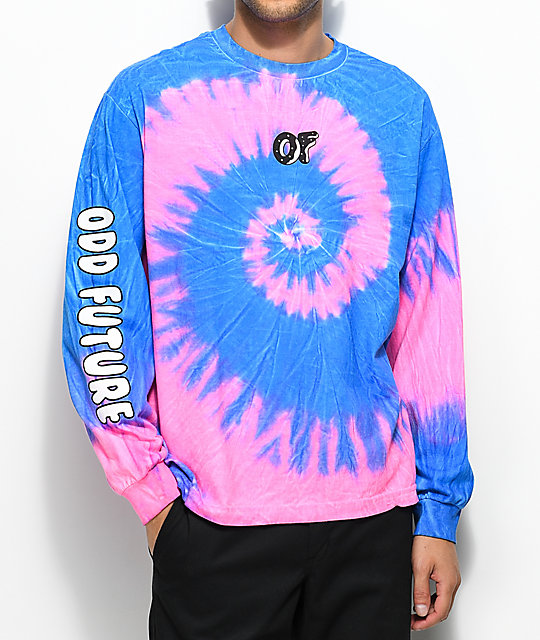 Odd Future Neon Razz Tie Dye Long Sleeve T-Shirt