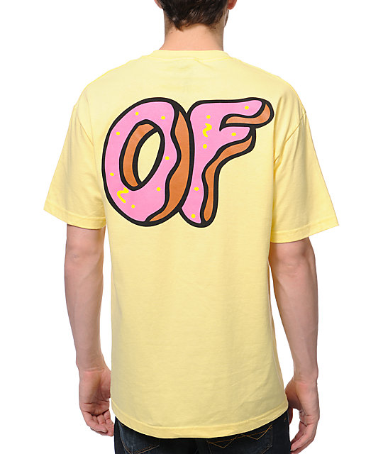 d65c83985214fb Odd Future New OF Donut Yellow T-Shirt