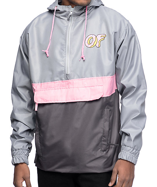 Grey Windbreaker Mens Fashion