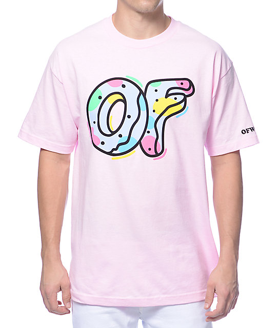 new concept 4a2c3 c1e6c Odd Future OF Logo Pink T-Shirt