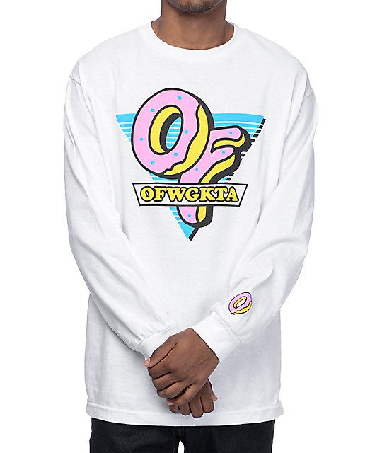 new style 1e09b ae2f9 Odd Future OF Triangle White Long Sleeve T-Shirt