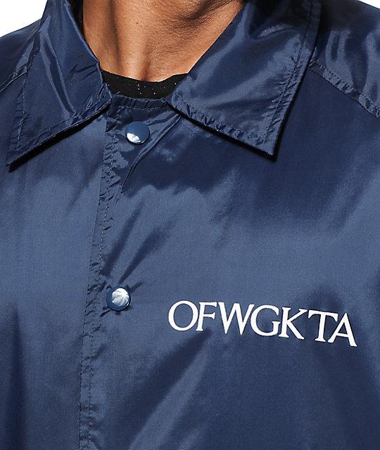 a91bf78e5f7e ... Odd Future OFWGKTA Coach Jacket