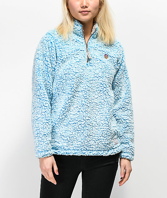 490c6b747 Odd Future Ombre Blue Sherpa Fleece Jacket