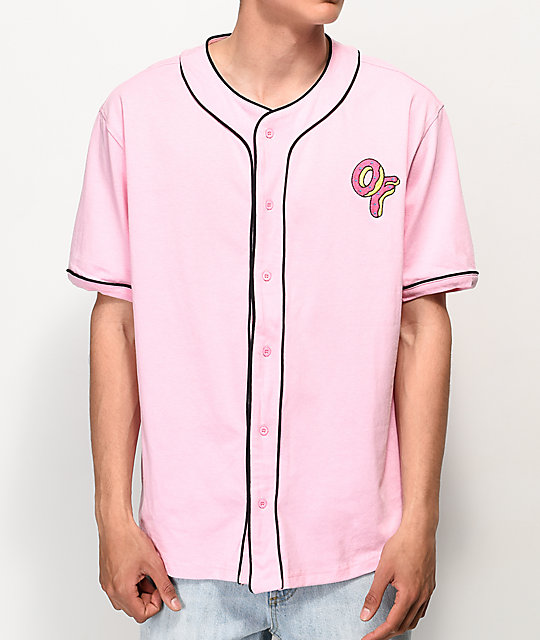 Odd Future Pink & Black Baseball Jersey
