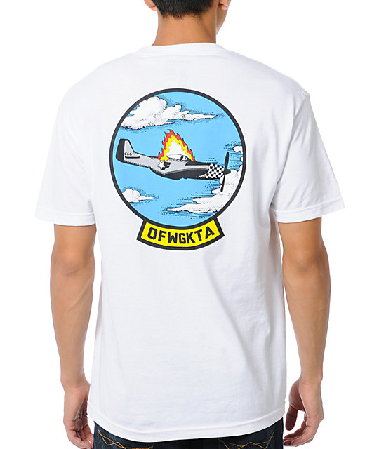 Odd Future Plane Crash White T-Shirt