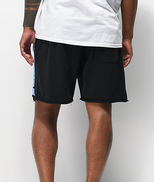 Odd Future Puff Print Black Fleece Shorts