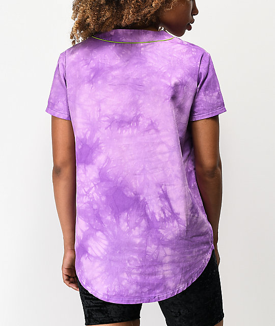 Odd Future Purple Crystal Wash Baseball Jersey