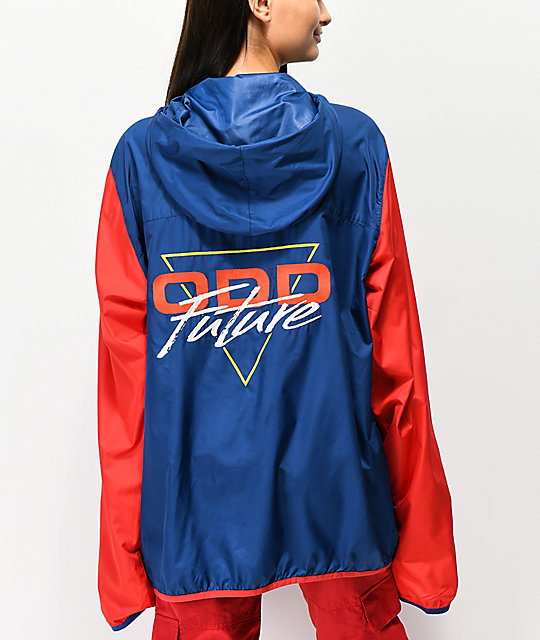 Odd Future Red, White & Blue Anorak Windbreaker Jacket