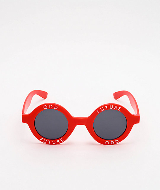 Odd Future Rounds Red Sunglasses
