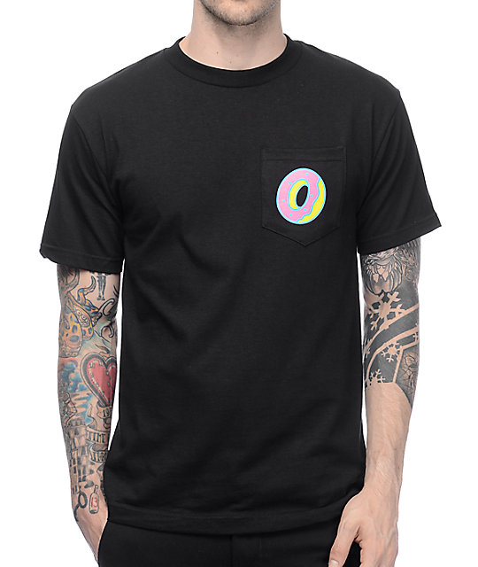 Odd Future Single Donut camiseta con bolsillo en negro