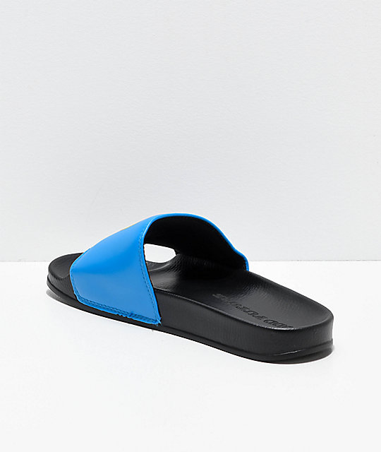 Odd Future Sliders Black & Blue Slide Sandals