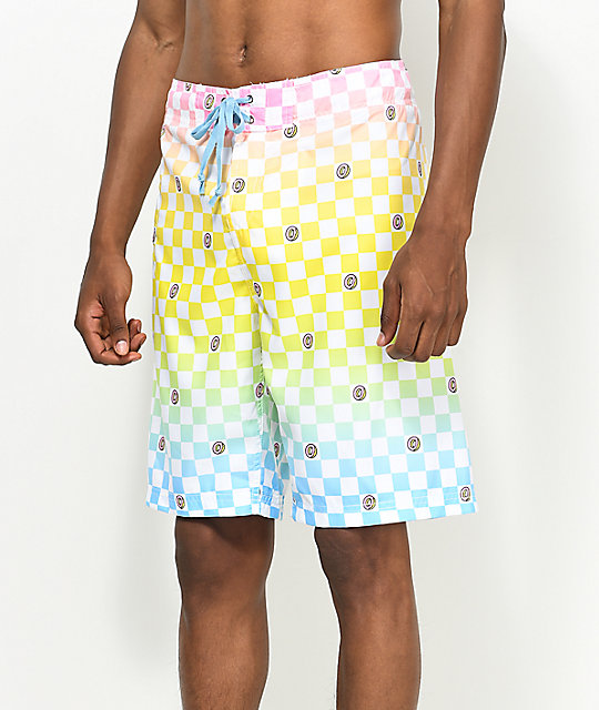 Odd Future Technicolor board shorts a cuadros