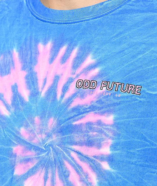 4a8ed2a164e8 ... Odd Future Tour Pink   Blue Tie Dye T-Shirt