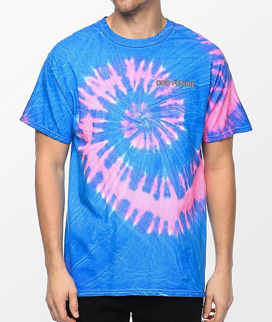 e5076a971018 ... Odd Future Tour Pink   Blue Tie Dye T-Shirt ...