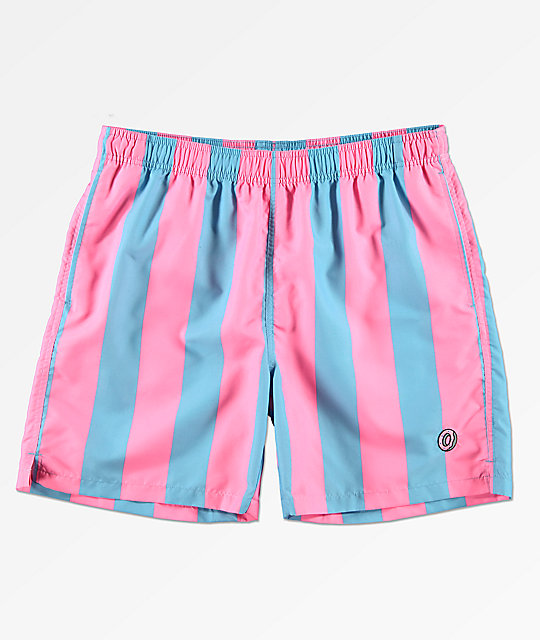 Odd Future Vertical Stripe Elastic Waist Board Shorts