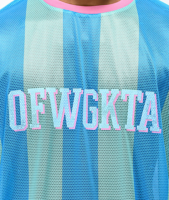 Odd Future Vertical Stripe Teal Soccer Jersey