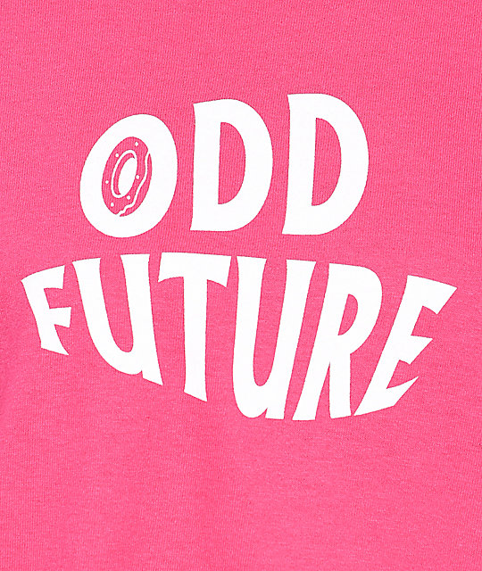 Odd Future Wavy Logo Hot Pink T-Shirt