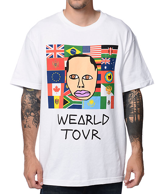 Odd Future Wearld Tour White T-Shirt