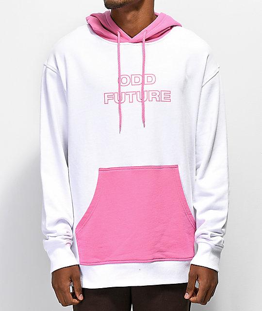 d2100f602930 ... Odd Future White   Pink Colorblock Hoodie ...