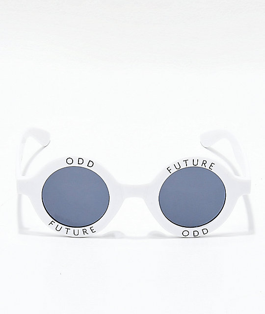 03b2358c5cfc Odd Future White Round Sunglasses  Odd Future White Round Sunglasses