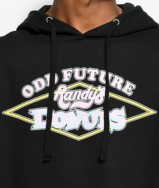 06045df0f98b ... Odd Future x Randy s Donuts Signs Black Hoodie ...