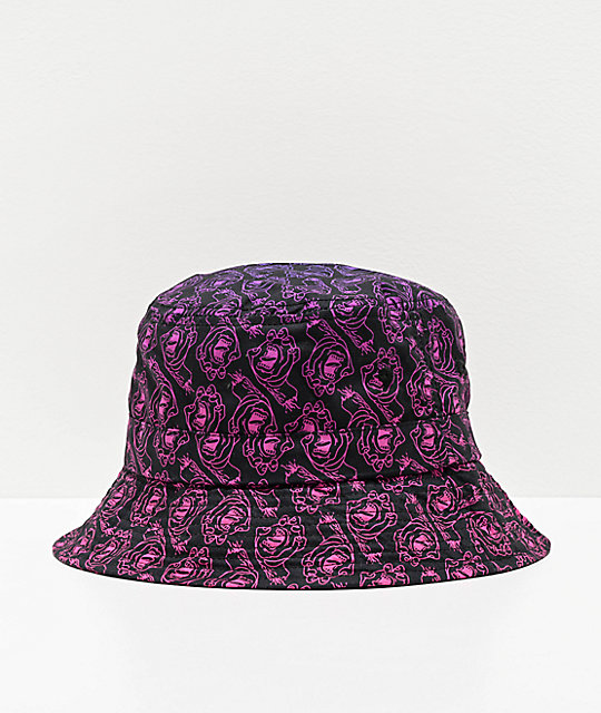 Odd Future x Santa Cruz Screaming Donut sombrero de cubo negro, morado y rosa