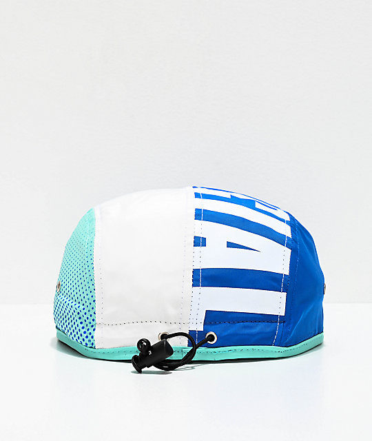 Official All Court Blue, White & Teal Four Panel Hat