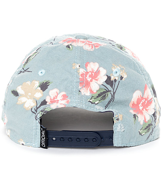 Official Blackpool Blue Floral Snapback Hat