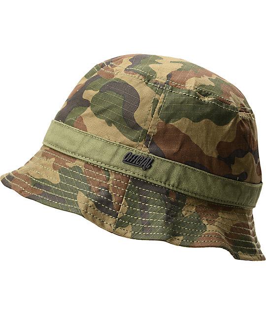Official Buckshot Woodland Camo Bucket Hat  adc6e272d29