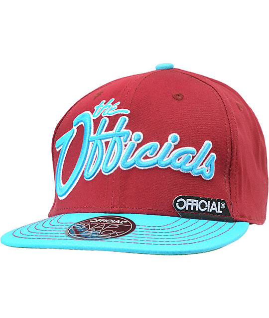 Official Burgies Burgundy & Light Blue Snapback Hat