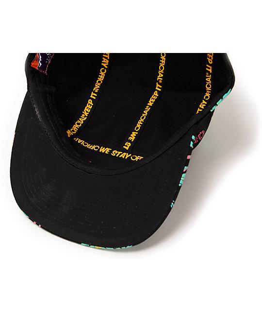 ac5cc18d72c ... Official Crown Of Laurel Skate Hawaiian Black 5 Panel Hat