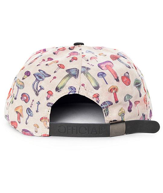 3739d61c7de ... Official Mushroom III Khaki and Black Strapback Hat