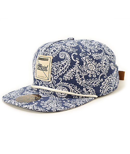 Official Palsed Paisley Strapback Hat  950d9f33cce