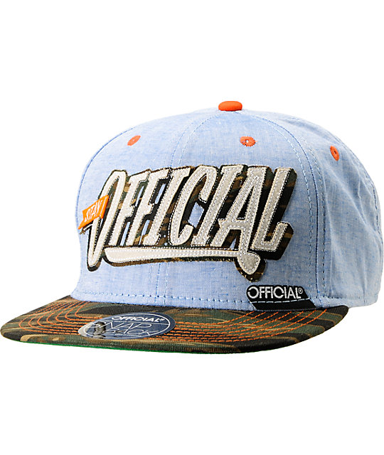 Chambray \u0026 Camo Snapback Hat