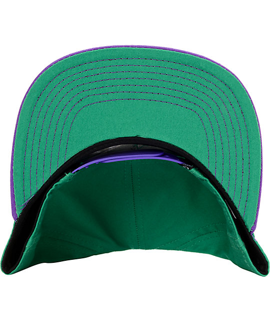 Official The Highlife Purple & Mint Snapback Hat