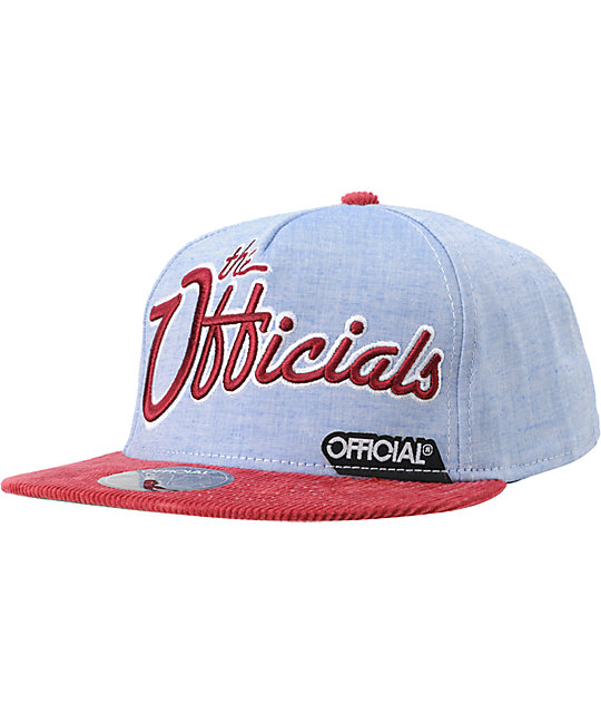 Official The Officials Light Blue Snapback Hat