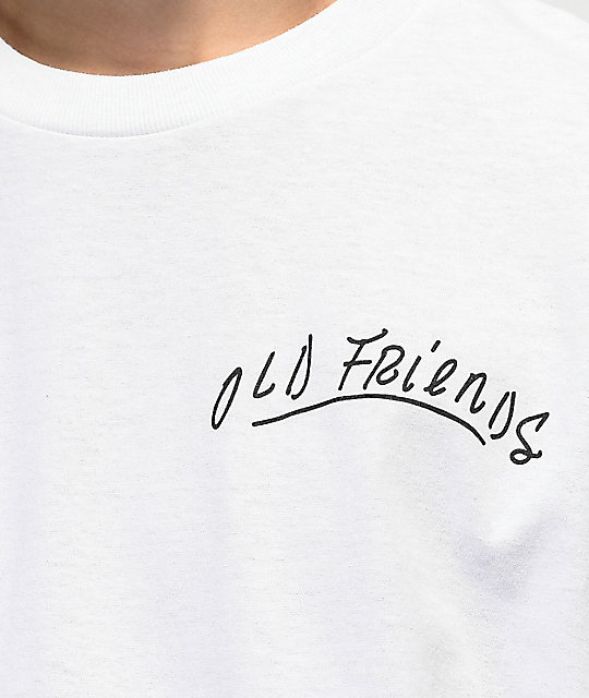 Old Friends Hugger White T-Shirt